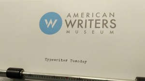 Typewriter Tuesday with the American Writers Museum