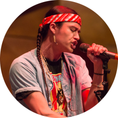Frank Waln performs at the American Writers Museum in Chicago