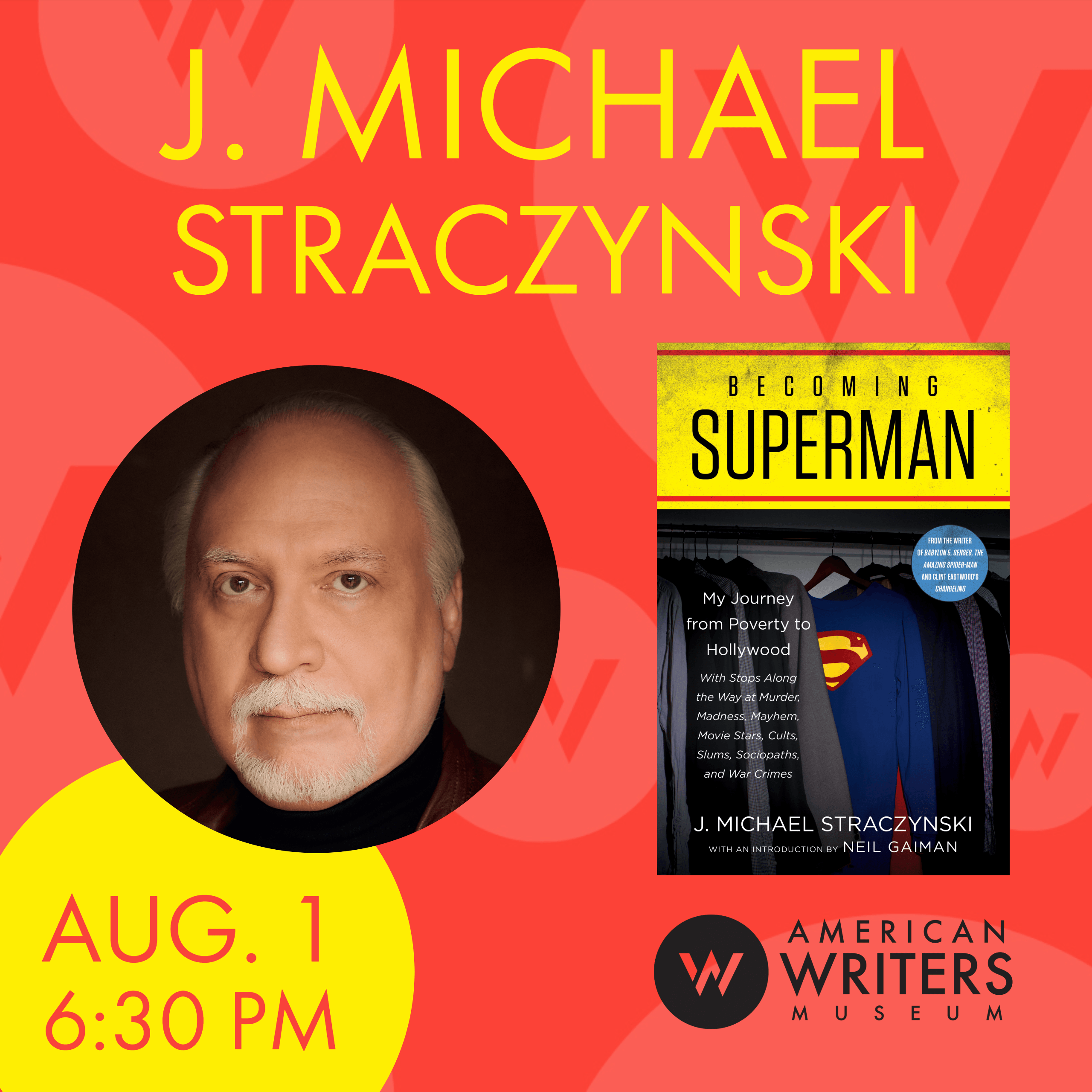 J. Michael Straczynski at the American Writers Museum on August 1