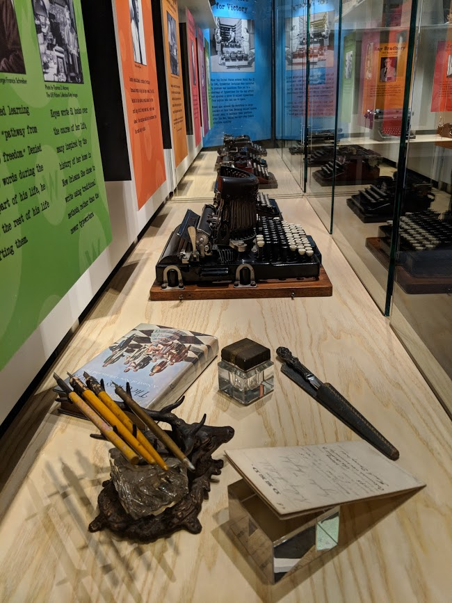 Tools of the Trade exhibit now open at the American Writers Museum