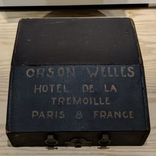 The typewriter used by Orson Welles now on display at the American Writers Museum in Chicago.