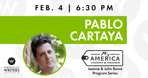 Pablo Cartaya reads and discusses his work at the American Writers Museum on February 4.
