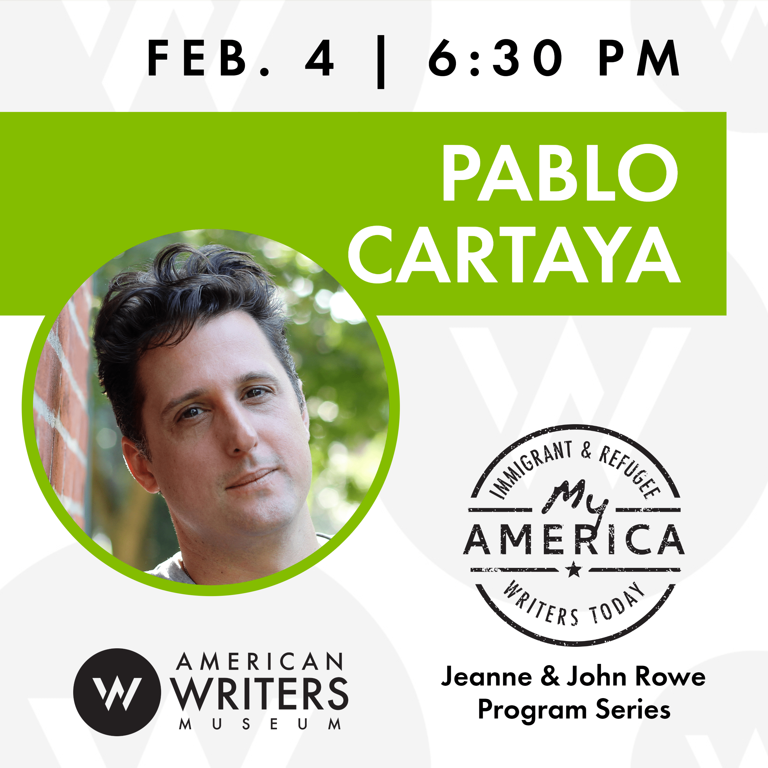 Pablo Cartaya at the American Writers Museum on February 4, 2019
