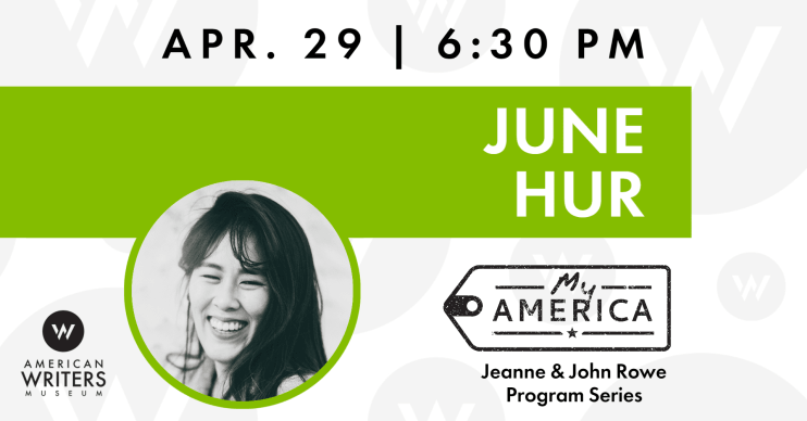 June Hur book reading and signing at the American Writers Museum on April, 29, 2020
