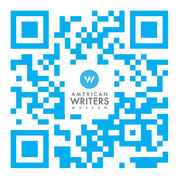 Scan this QR code to receive a prompt to donate to the American Writers Museum in Chicago via text