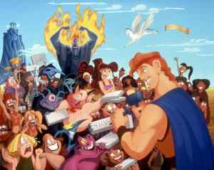 Snapshot of Hercules animated movie