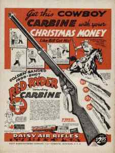 An ad for the Red Ryder bb gun