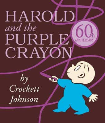 Harold and the Purple Crayon by Crockett Johnson book cover