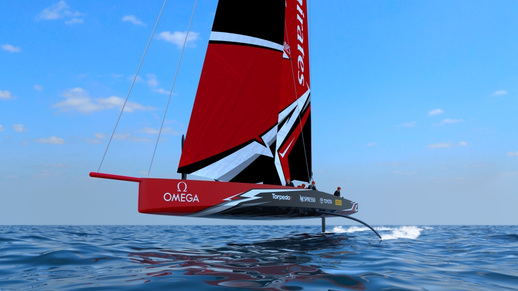 THE AMERICAS CUP CLASS AC75 BOAT CONCEPT REVEALED