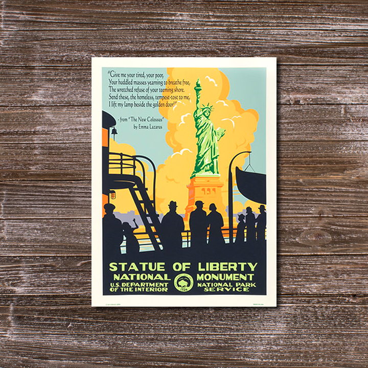 vintage-style Statue of Liberty poster