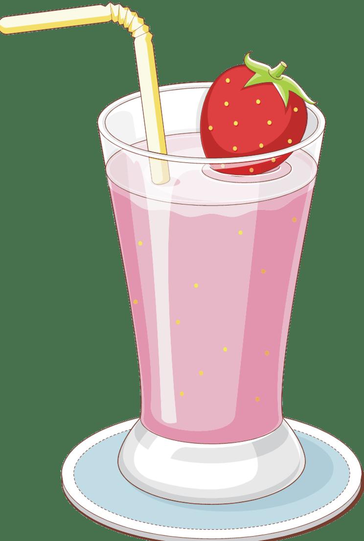 Strawberry Milkshake Clipart