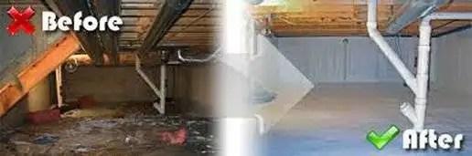 Waterproofing Before & After
