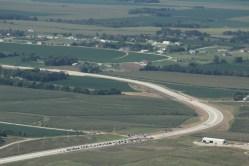 Wahoo Expressway Aerial Photo Ribbon Cutting