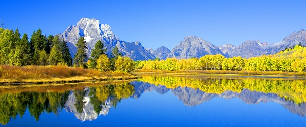 Grand Tetons Nationalpark der USA im Herbst