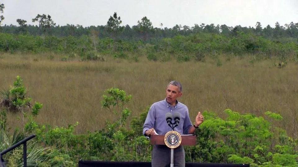 Obama en los Everglades