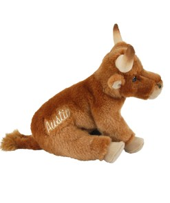 "Austin Longhorn 9"" Plush Side View"