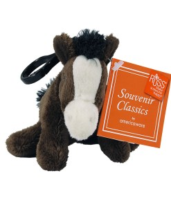 """Wyoming 4"""" Plush Clip on Horse Front View"""