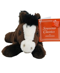 """Wyoming 7"""" Plush Horse Front View"""