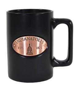 Indianapolis Black Copper Medallion Mug