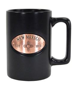 New Mexico Black Copper Medallion Mug