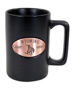 Wyoming Black Copper Medallion Mug