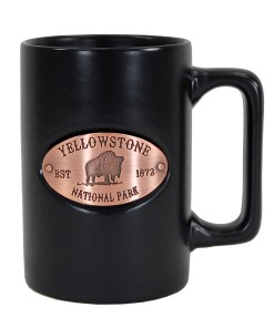 Yellowstone Black Copper Medallion Mug