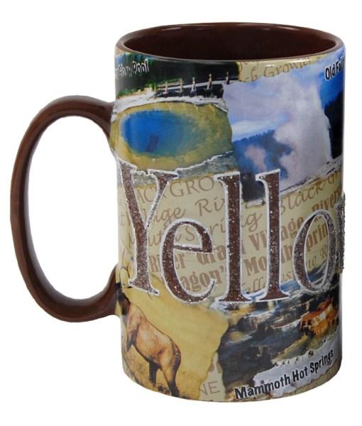 Yellowstone Tall Etched Mug