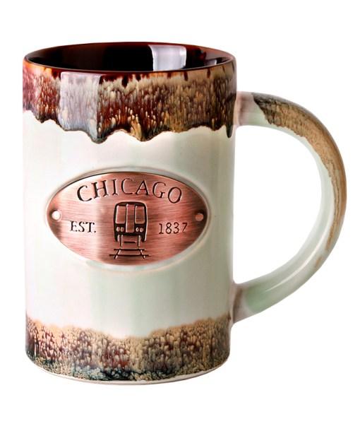 Chicago Copper Medallion Green Mug