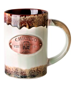 Chicago Copper Medallion Green Mug