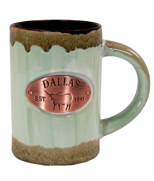 Dallas Copper Medallion Green Mug