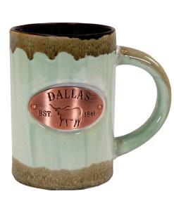 Dallas Copper Medallion Green Mug