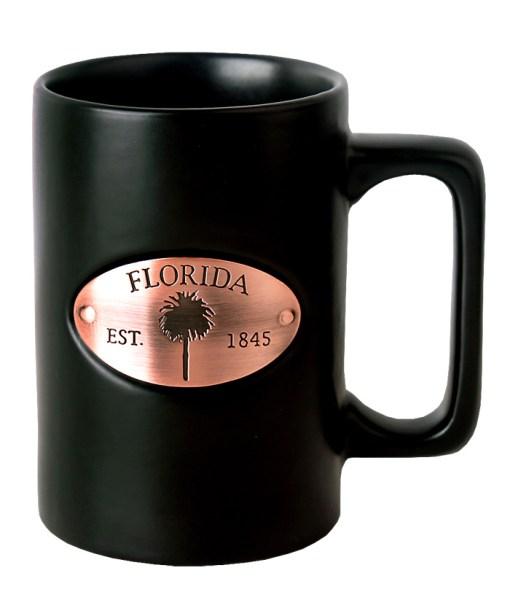 Florida Copper Medallion Black Mug
