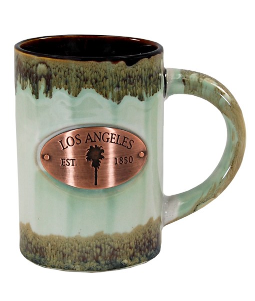 Los Angeles Copper Medallion Green Mugs