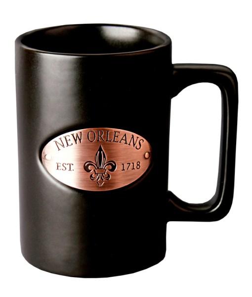 New Orleans Copper Medallion Black Mug