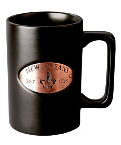 New Orleans Copper Medallion Black Mug