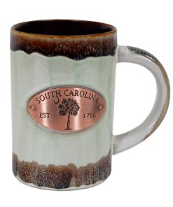 South Carolina Copper Medallion Mug Green