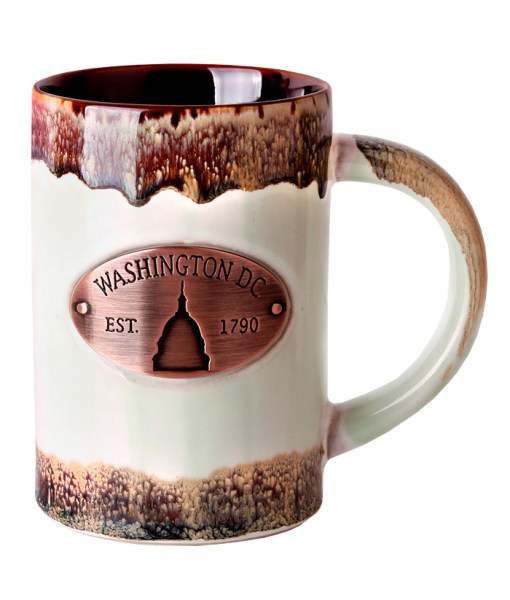 Washington DC Copper Medallion Mug Green