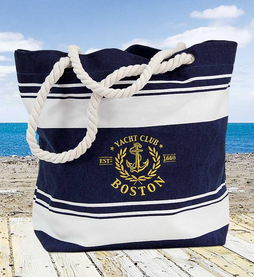 Nautical Boston Tote Bag