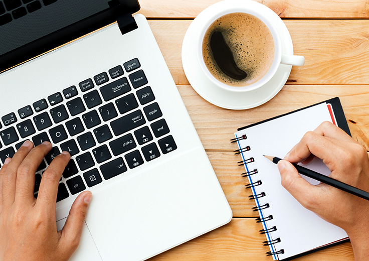 Coffee Computer & writing tablet