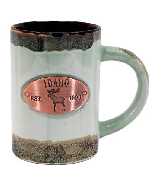 Idaho Green Glaze Medallion Mug