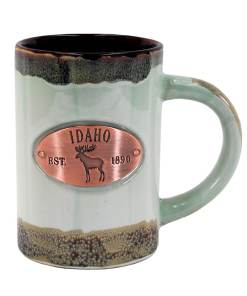 Idaho Green Glaze Medallion Mug