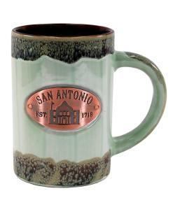 San Antonio Green Glaze Medallion Mug