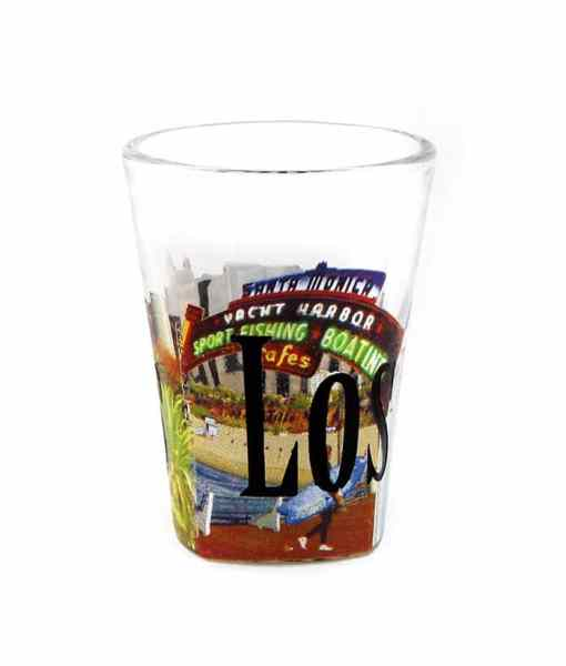 Los Angeles Color Shot Glass