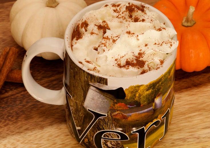 Vermont Souvenir Mug with Coffee & Whip Cream