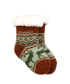 Idaho Infant Elk Pattern Socks