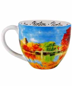 Boston designed watercolor mug left