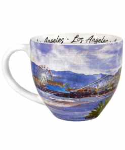 Los Angeles designed watercolor mug left