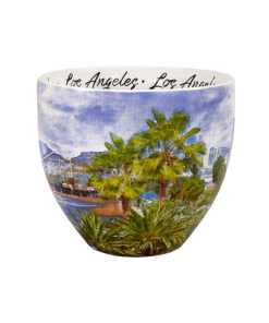 Los Angeles designed watercolor mug middle
