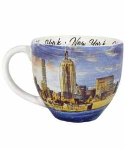 New York watercolor mug