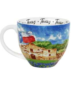 Texas watercolor mug front view
